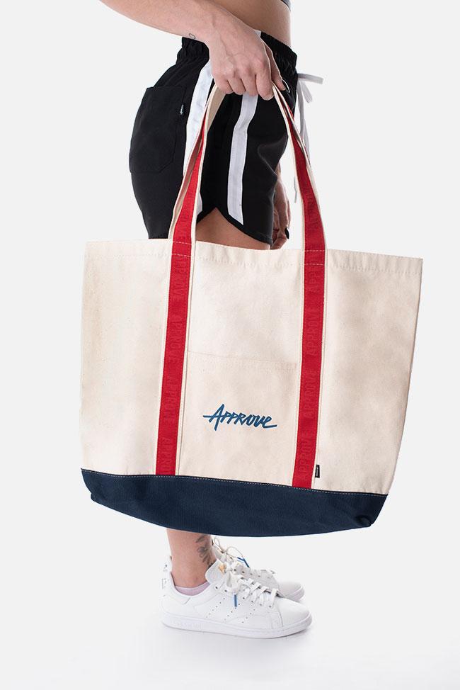アプルーヴ キャンバストートバッグ オフホワイト